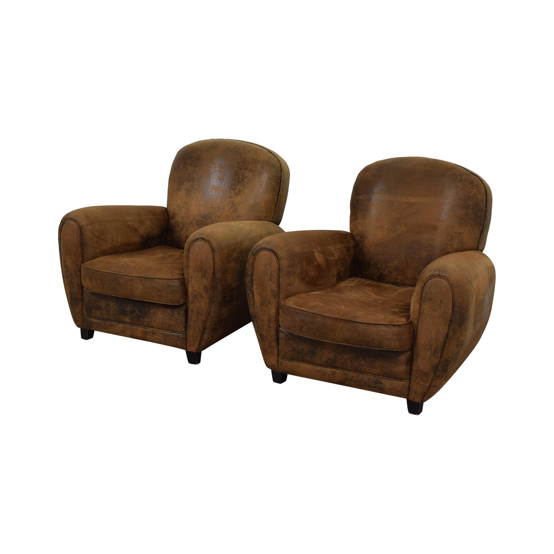 buy Maison du Monde Maison du Monde Brown Club Chairs online