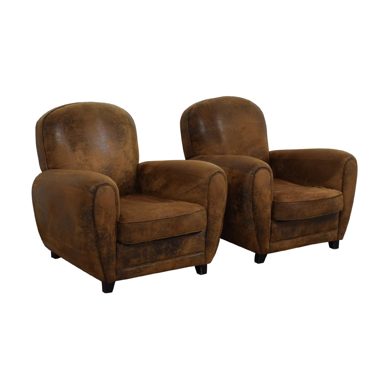 Maison du Monde Maison du Monde Brown Club Chairs dimensions