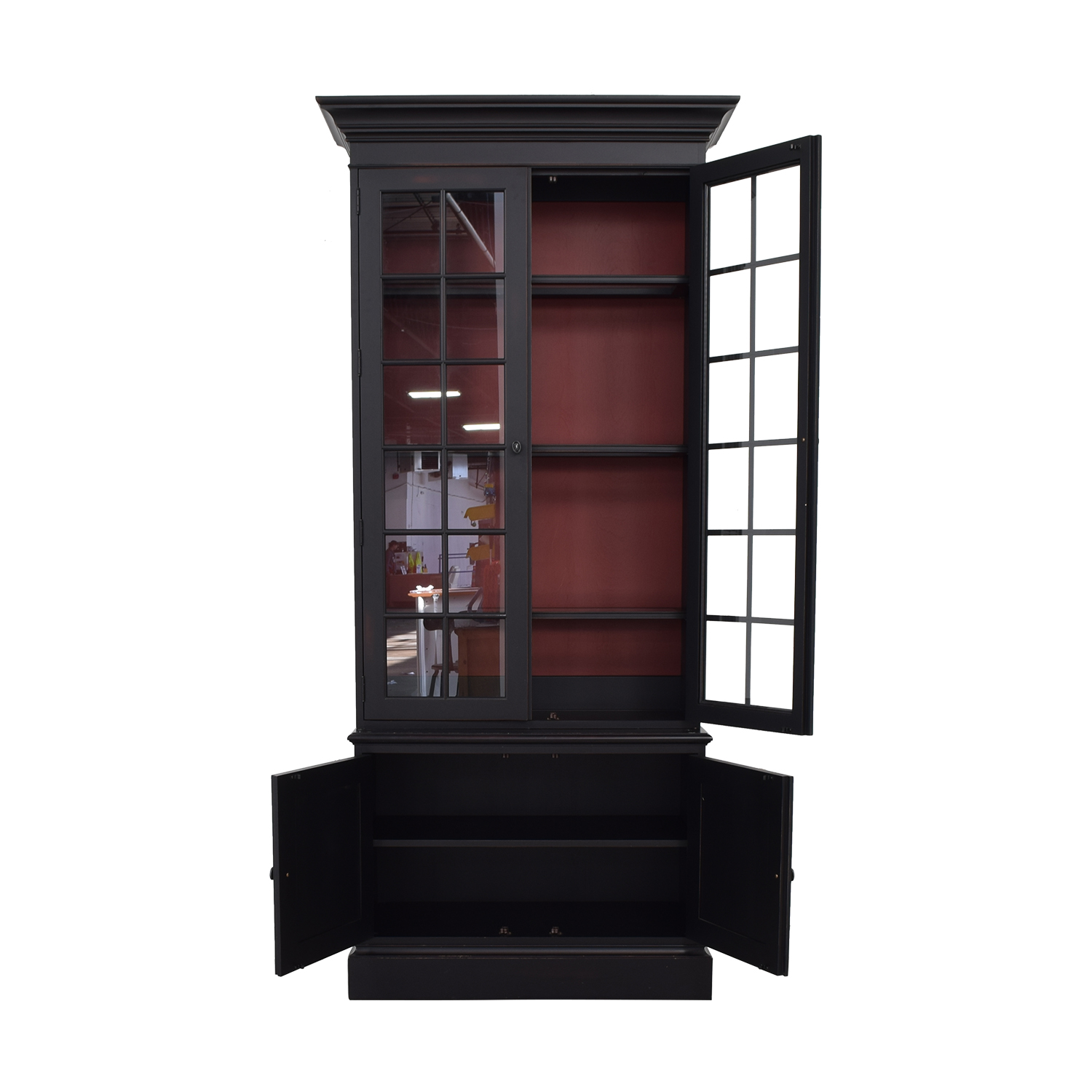 Ethan Allen Ethan Allen Villa Black Single Library Bookcase price