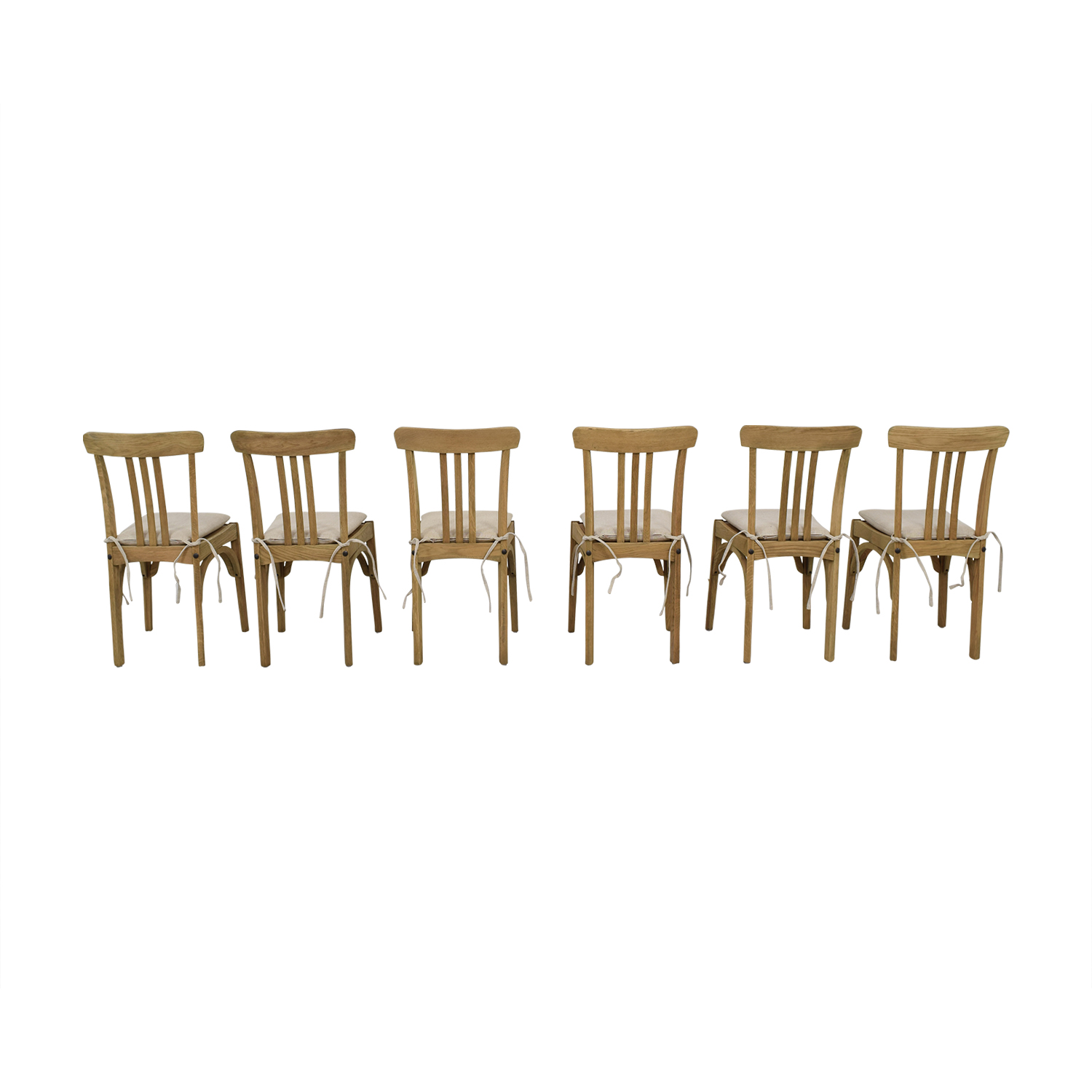 Restoration Hardware Restoration Hardware Sinclair Side Chairs with Belgian Linen Cushion discount
