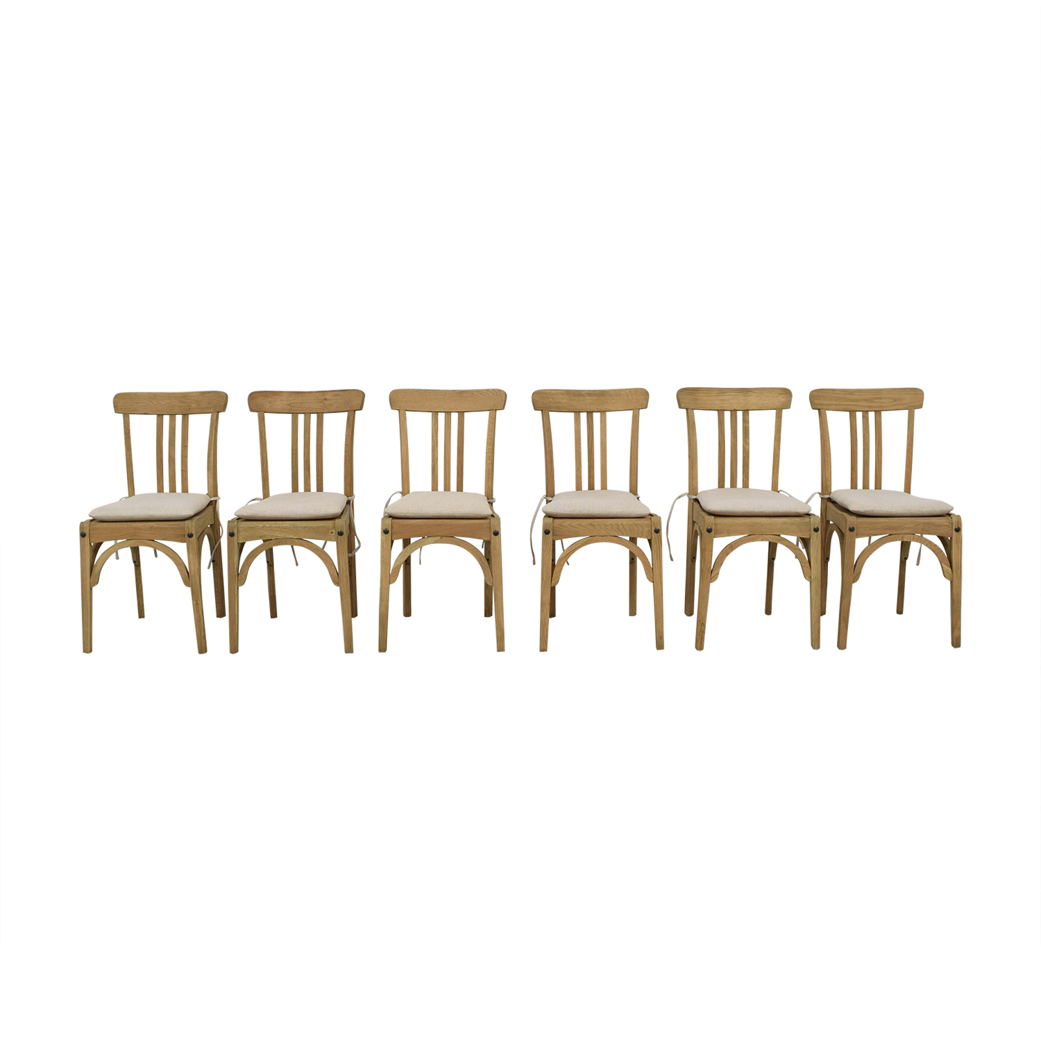 Restoration Hardware Restoration Hardware Sinclair Side Chairs with Belgian Linen Cushion nyc