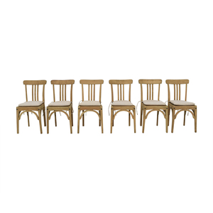 Restoration Hardware Restoration Hardware Sinclair Side Chairs with Belgian Linen Cushion price