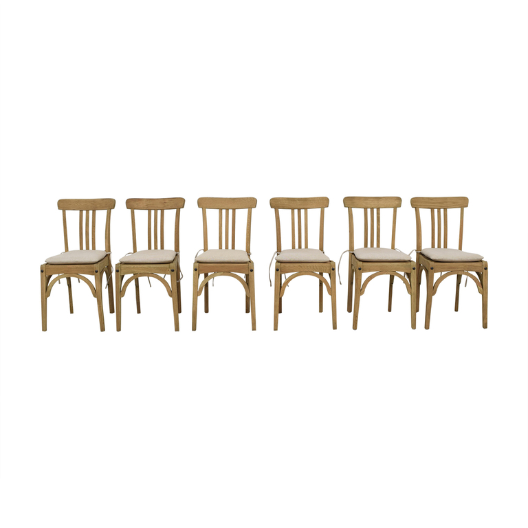 buy Restoration Hardware Restoration Hardware Sinclair Side Chairs with Belgian Linen Cushion online