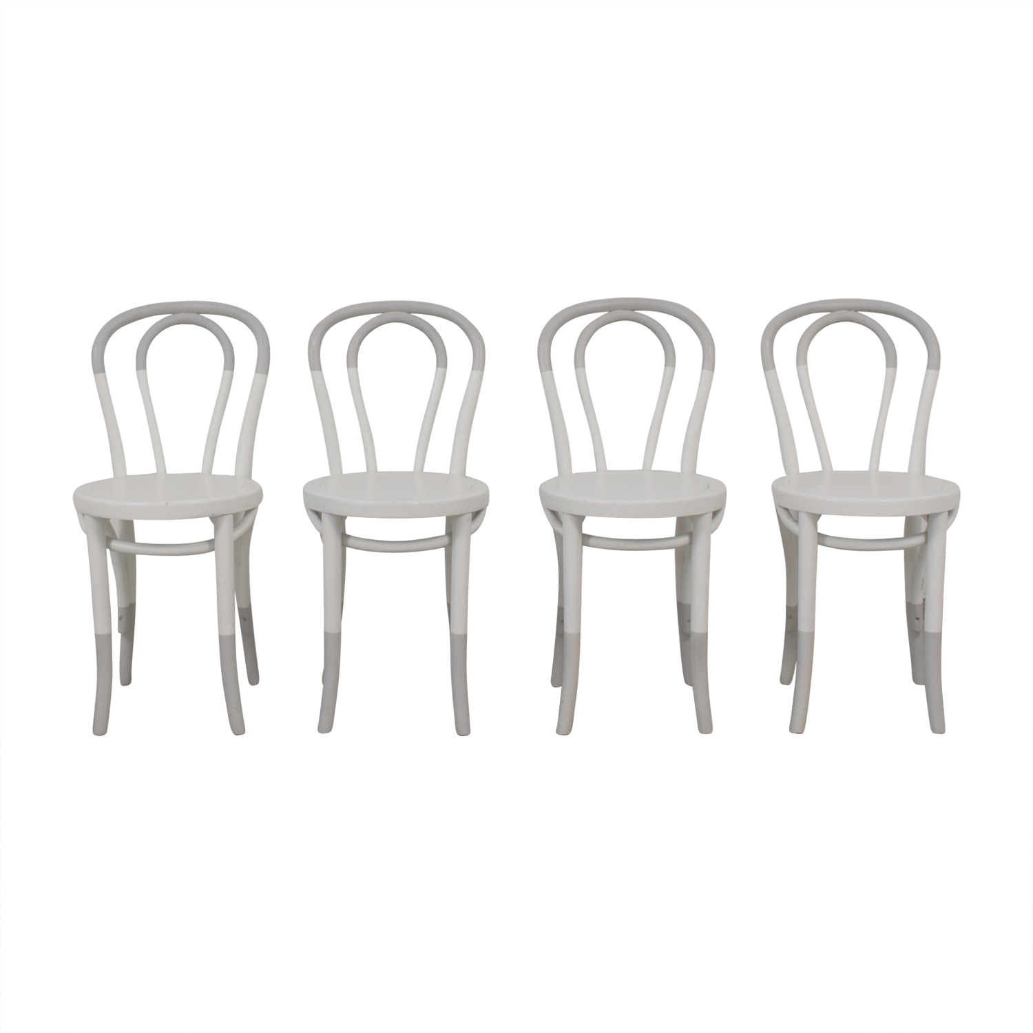 Restoration Hardware Restoration Hardware White Bentwood Chairs used