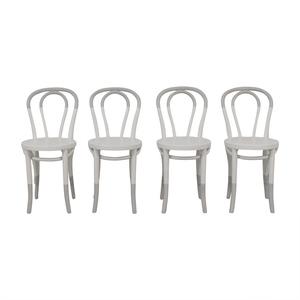 Restoration Hardware White Bentwood Chairs Restoration Hardware