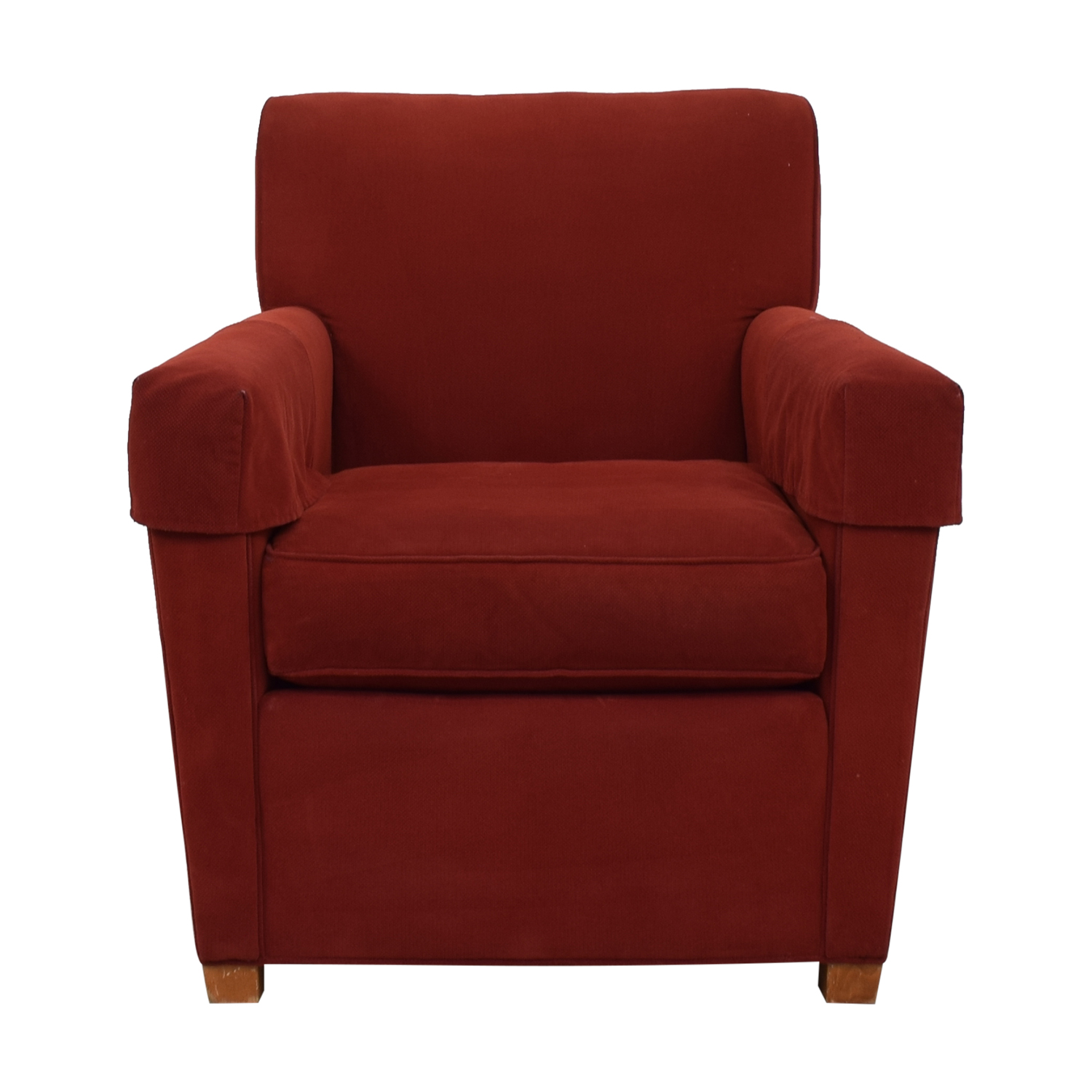 86% OFF - Stickley Stickley Red Arm Chair / Chairs
