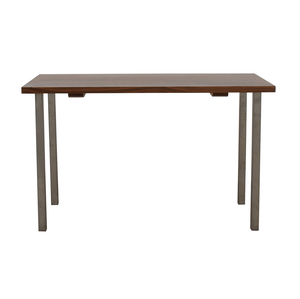 buy Room & Board Room & Board Rand Natural Wood and Steel Table online
