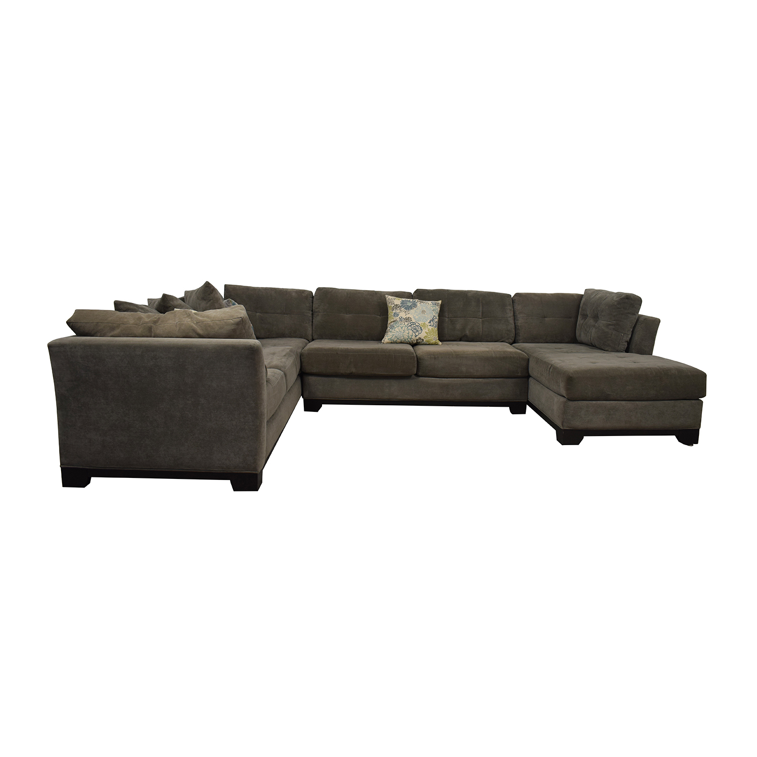 Jonathan Louis Jonathan Louis Grey U-Shaped Chaise Sectional second hand