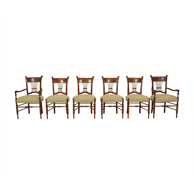 shop Baker Furniture Baker Furniture Milling Road Beige Upholstered Wood Dining Chairs online