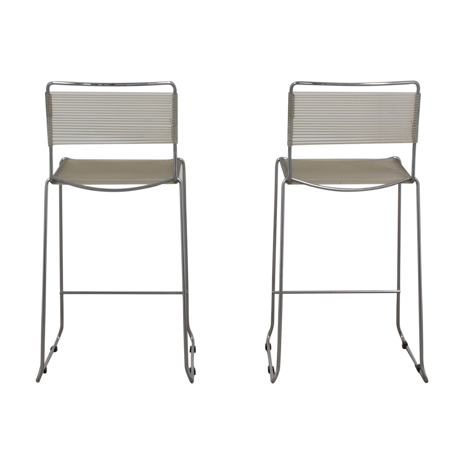 Chrome Counter Stools used