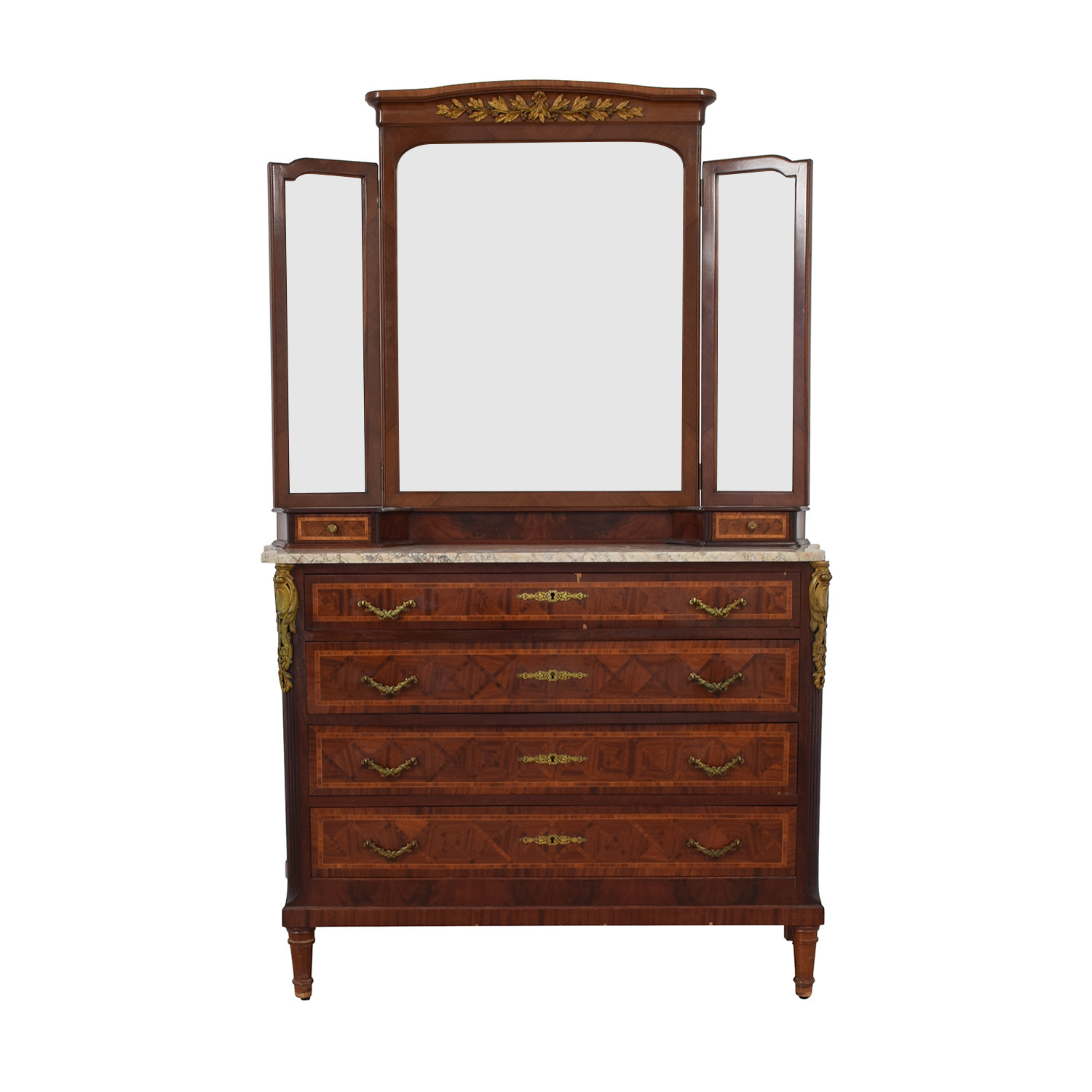 shop Furniture Masters Vintage Dresser with Mirror Furniture Masters Storage
