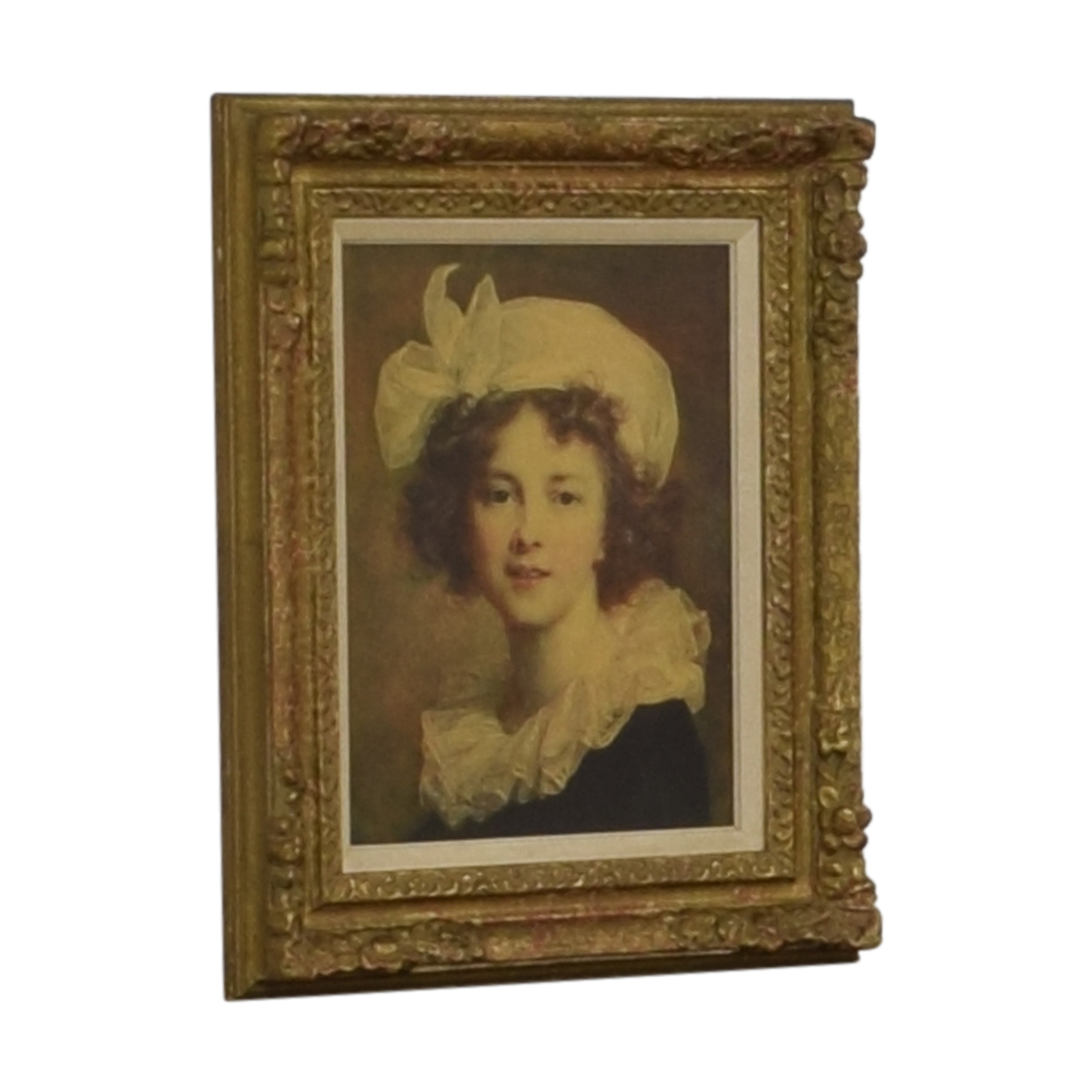 buy Vintage Young Women Gold Framed Painting  Decor