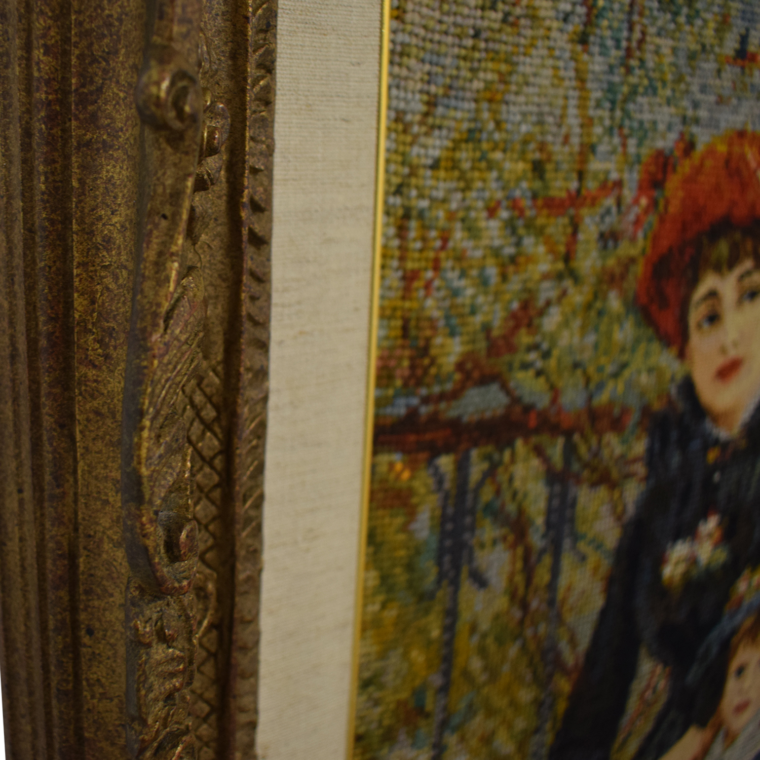 Renoir Renoir Two Sisters on the Balcony Gold Framed Needlepoint discount