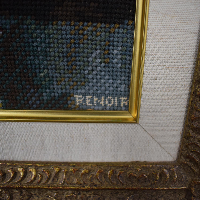 buy Renoir Two Sisters on the Balcony Gold Framed Needlepoint Renoir Decor