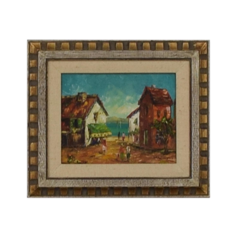 buy W. Vanicci Framed Caribbean Oil Painting W. Vanicci