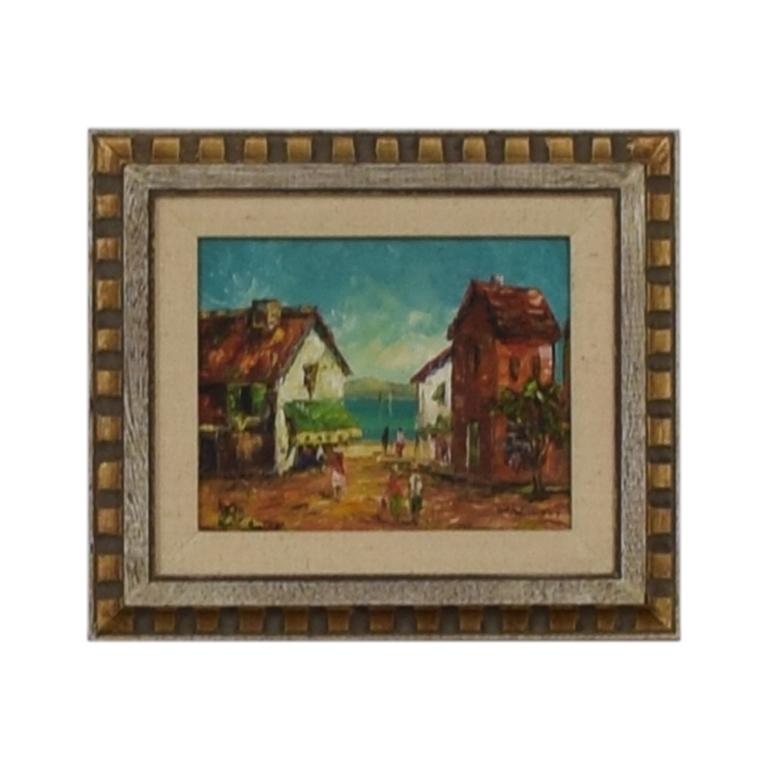 W. Vanicci Framed Caribbean Oil Painting price