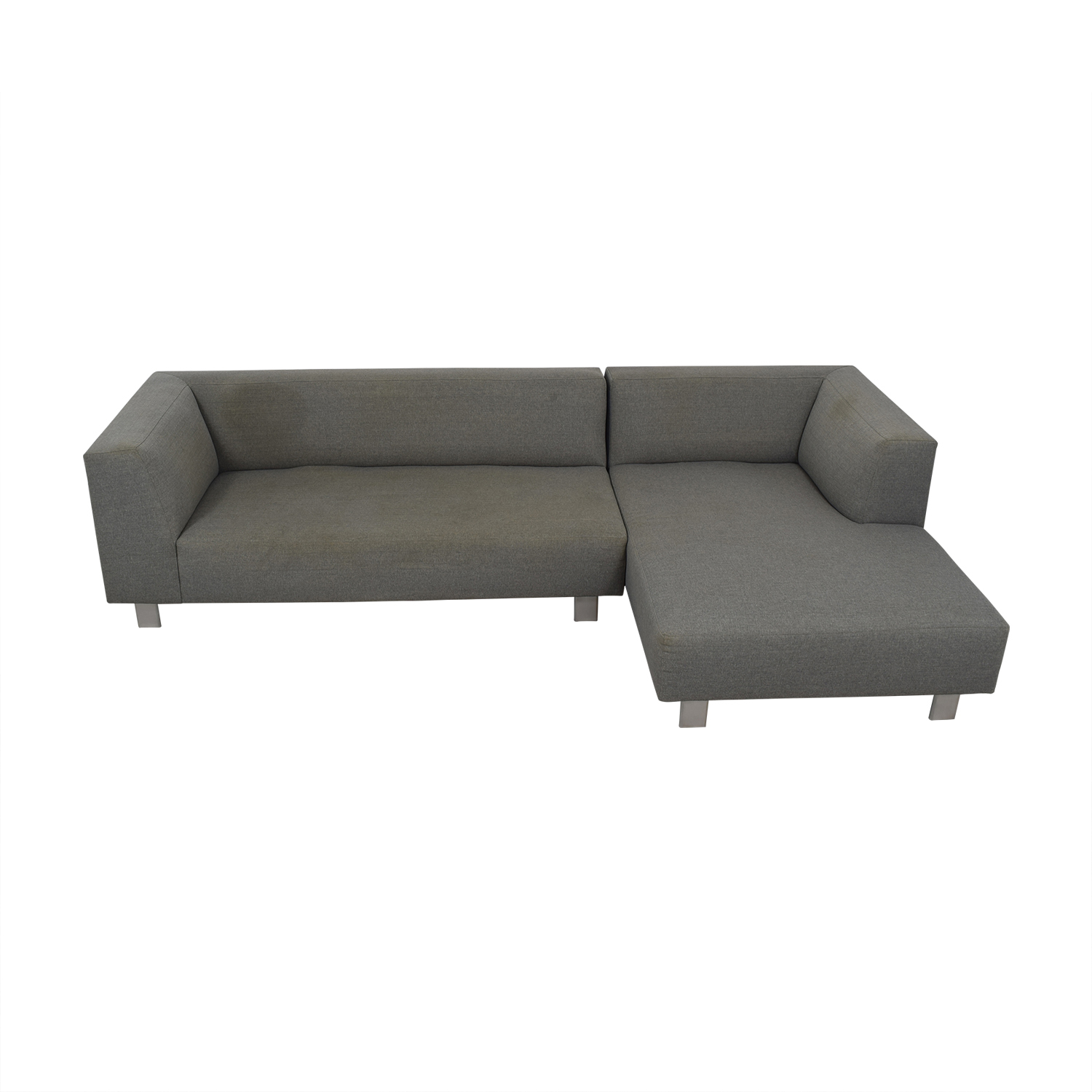 Room & Board Room & Board Grey Chaise Sectional used