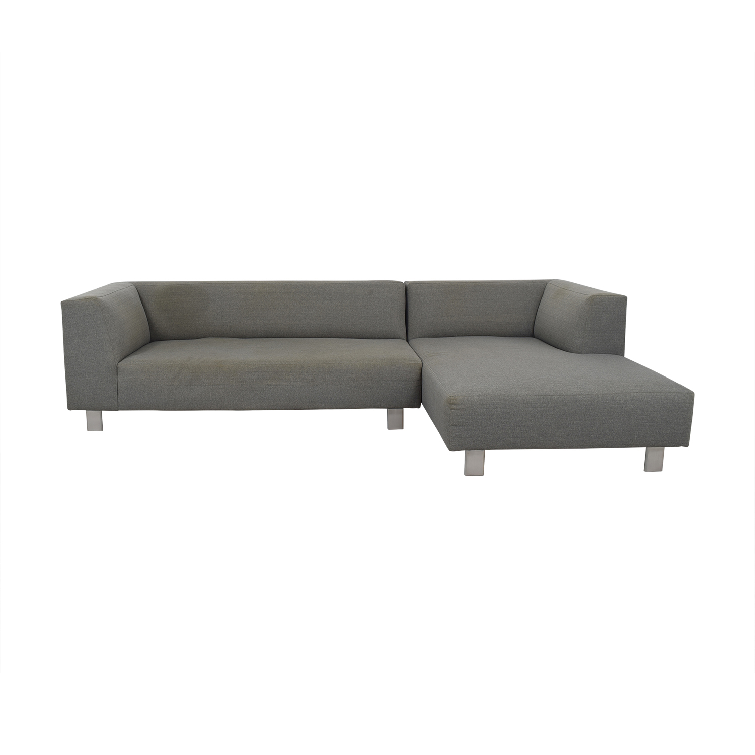 Room & Board Room & Board Grey Chaise Sectional dimensions