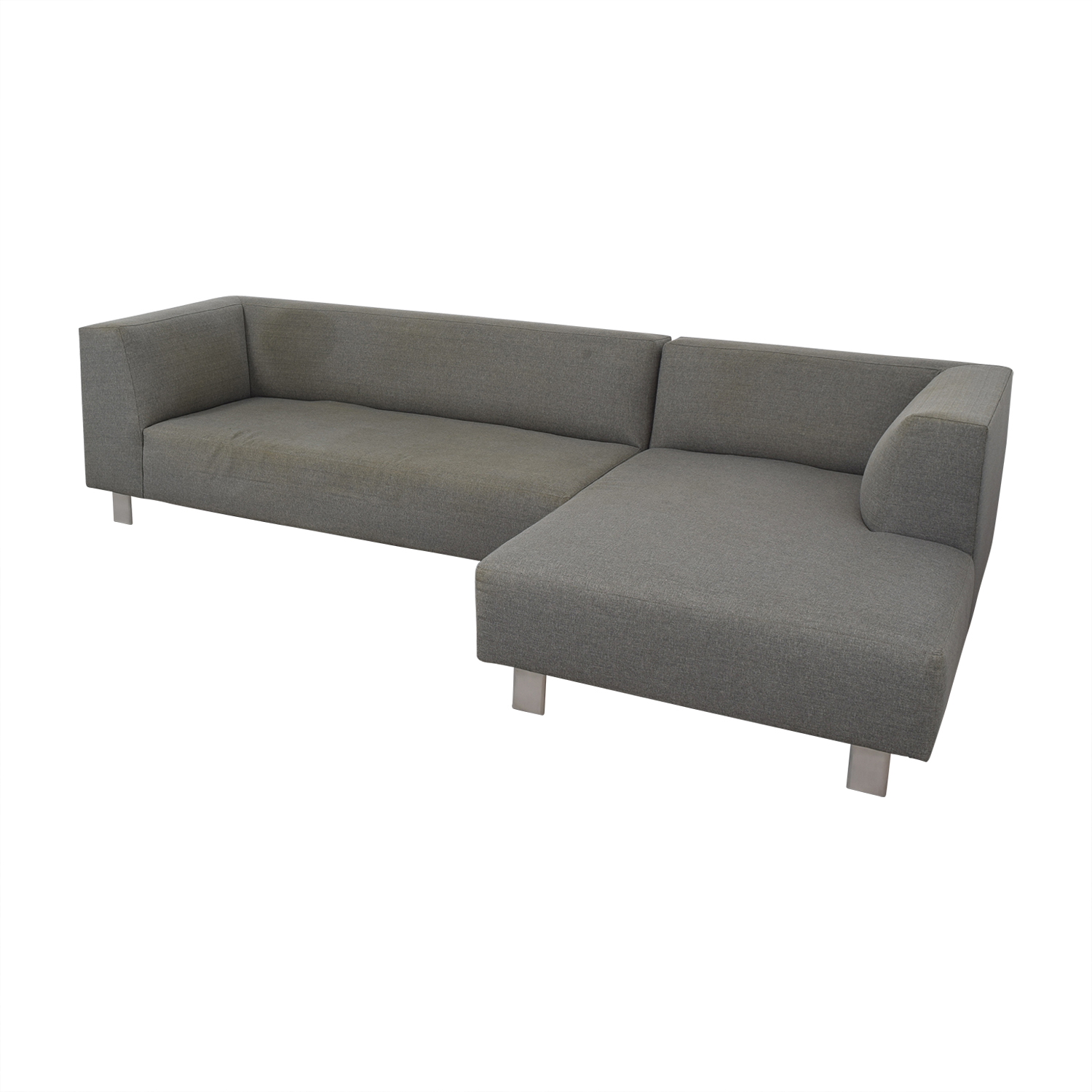 Room & Board Room & Board Grey Chaise Sectional on sale