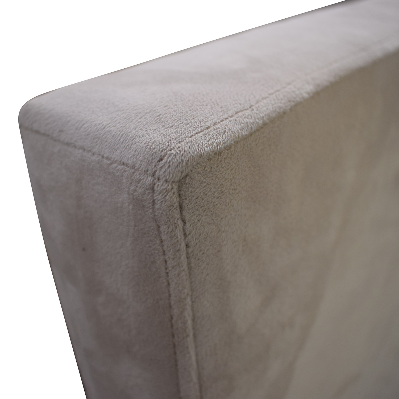shop Room & Board Wyatt Grey Queen Platform Bed Frame Room & Board