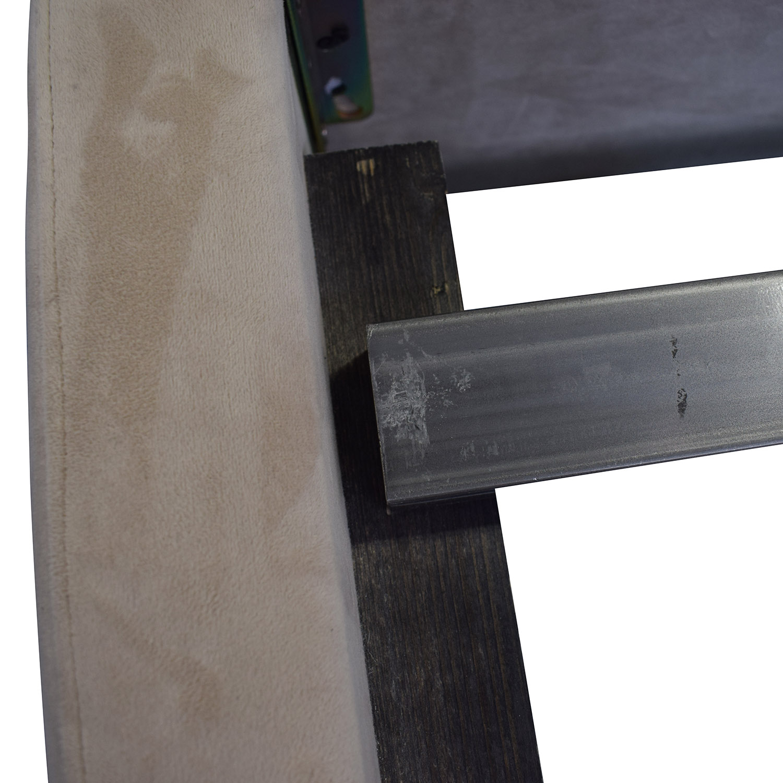 Room & Board Room & Board Wyatt Grey Queen Platform Bed Frame second hand