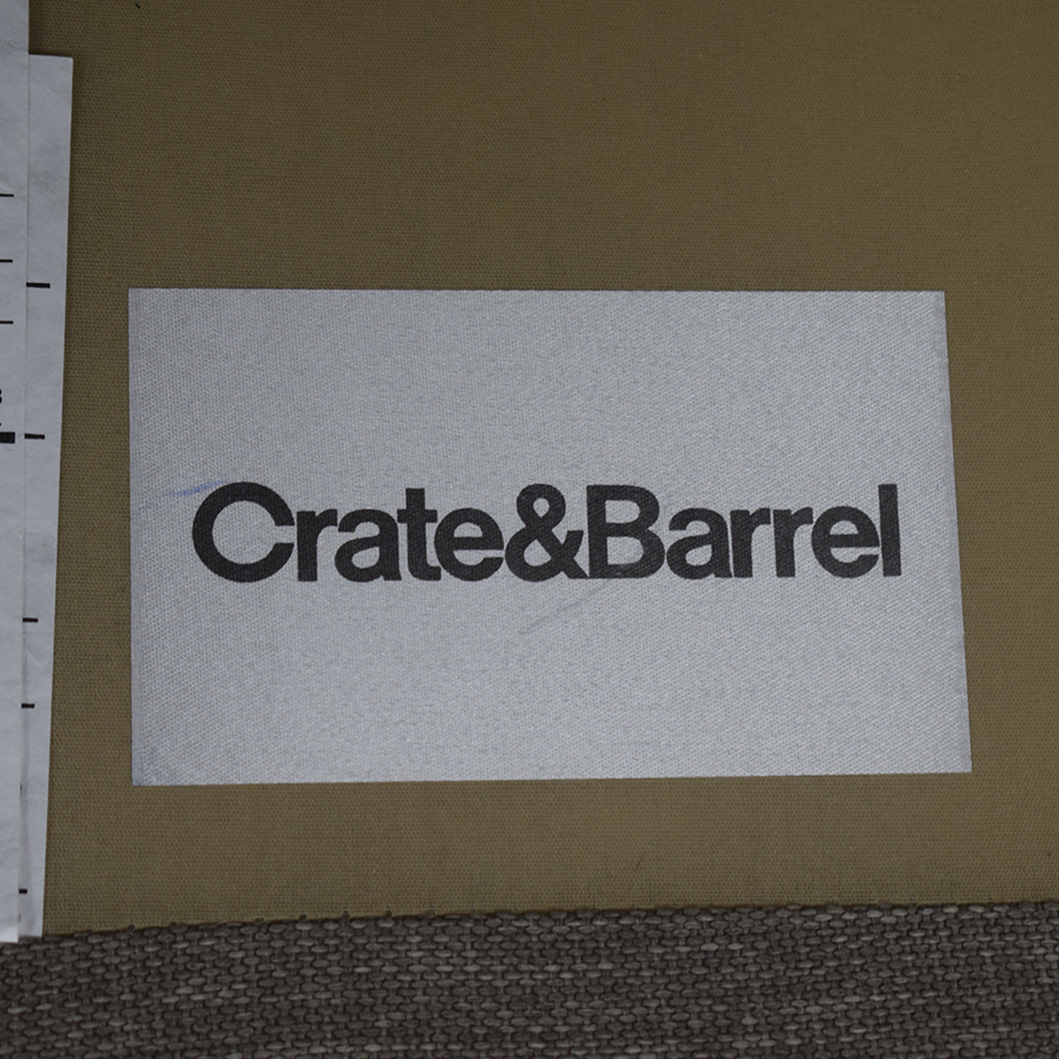 Crate & Barrel Grey Chaise Sectional Crate & Barrel