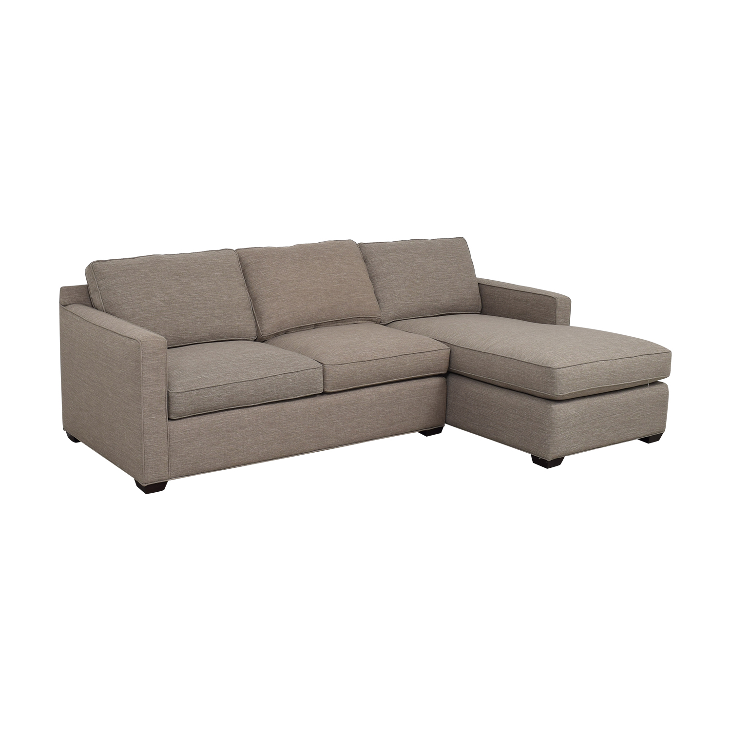 Crate & Barrel Crate & Barrel Grey Chaise Sectional coupon