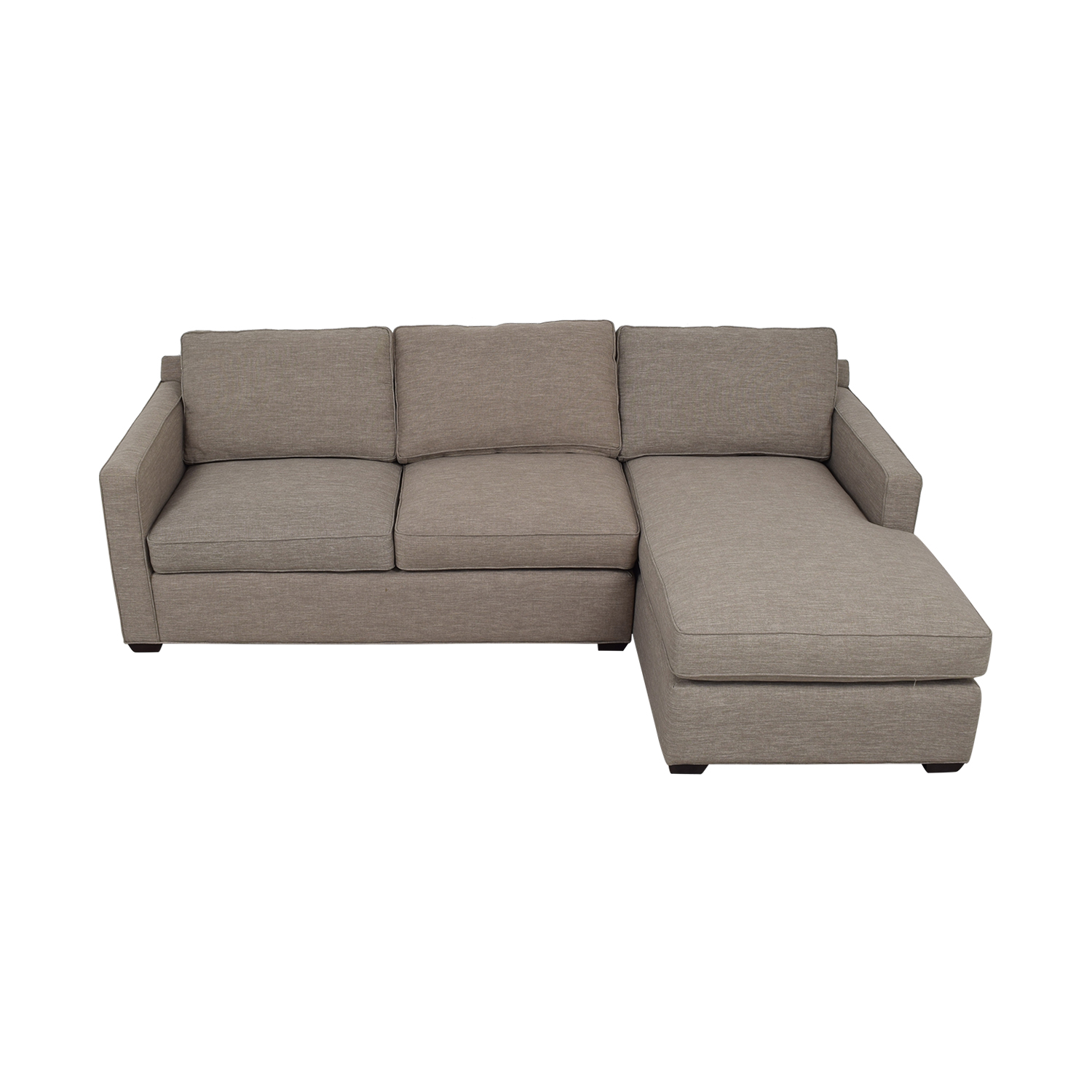 shop Crate & Barrel Grey Chaise Sectional Crate & Barrel