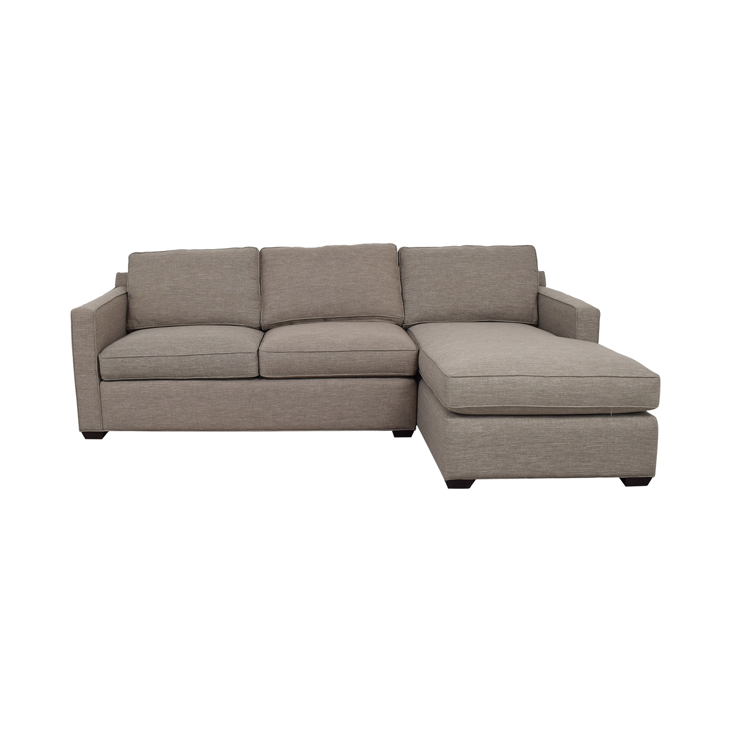 buy Crate & Barrel Grey Chaise Sectional Crate & Barrel