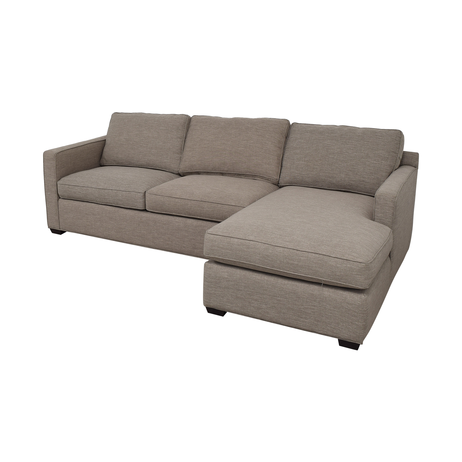 Crate & Barrel Grey Chaise Sectional / Sofas