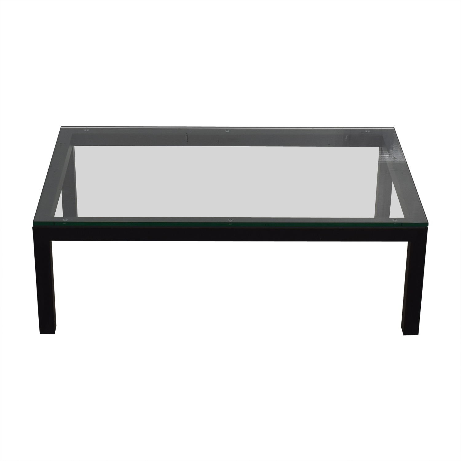 shop Crate & Barrel Crate & Barrel Glass & Black Coffee Table online