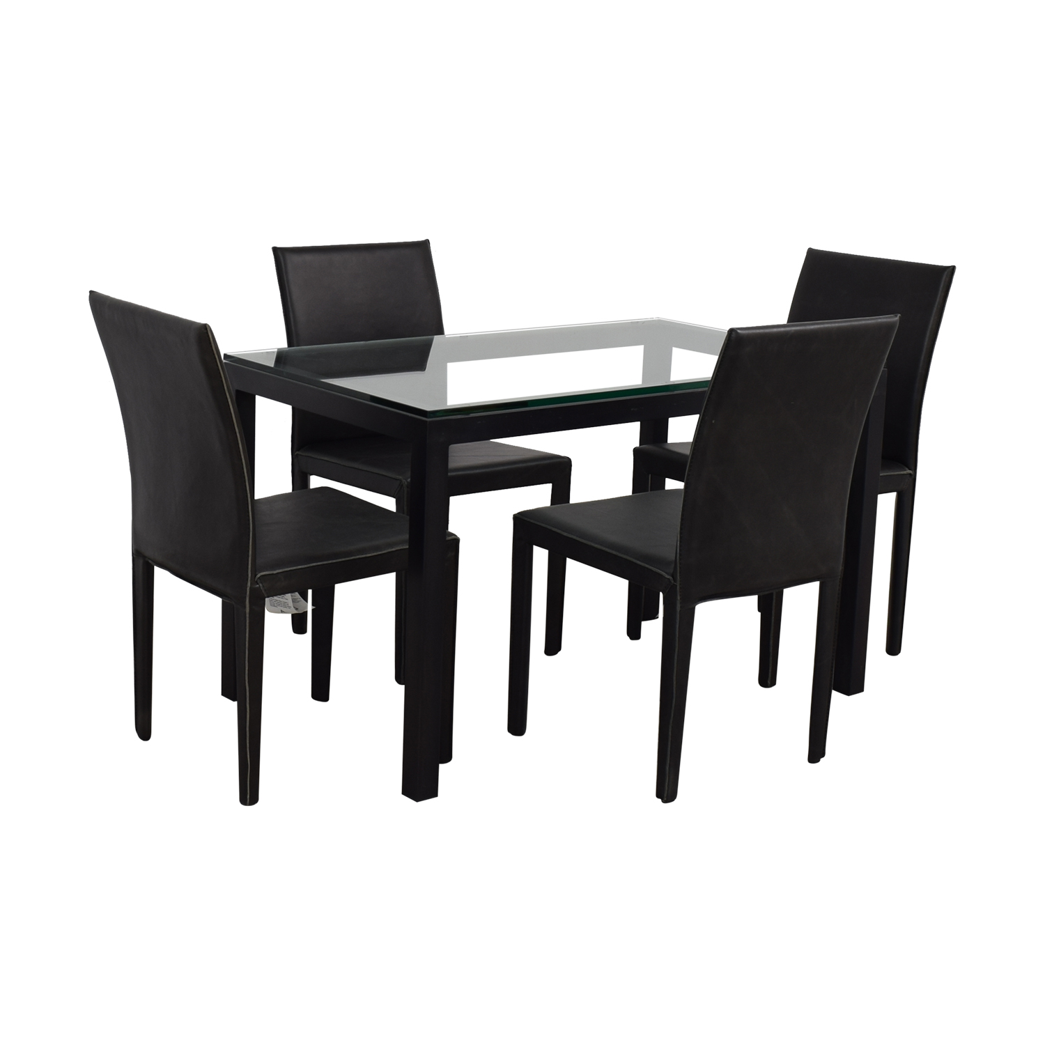 shop Crate & Barrel Crate & Barrel Maria Yee Glass and Black Dining Set online