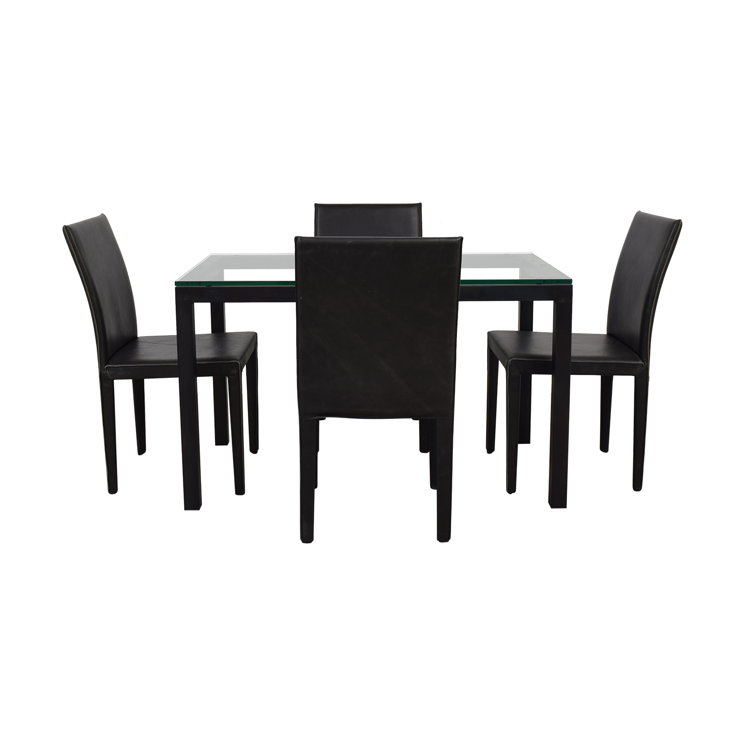 buy Crate & Barrel Maria Yee Glass and Black Dining Set Crate & Barrel