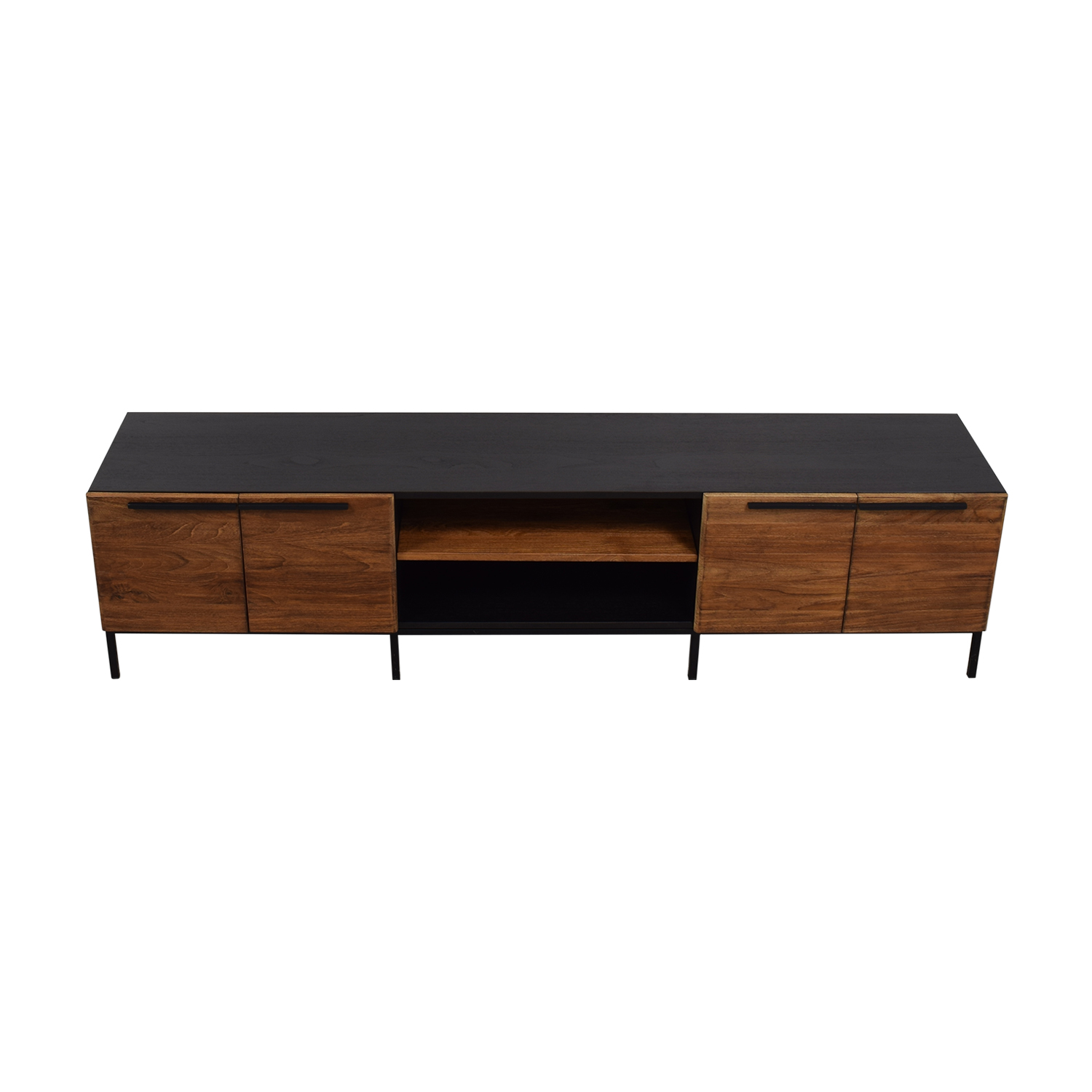 shop Crate & Barrel Crate & Barrel Rigby Natural Large Media Console with Base online