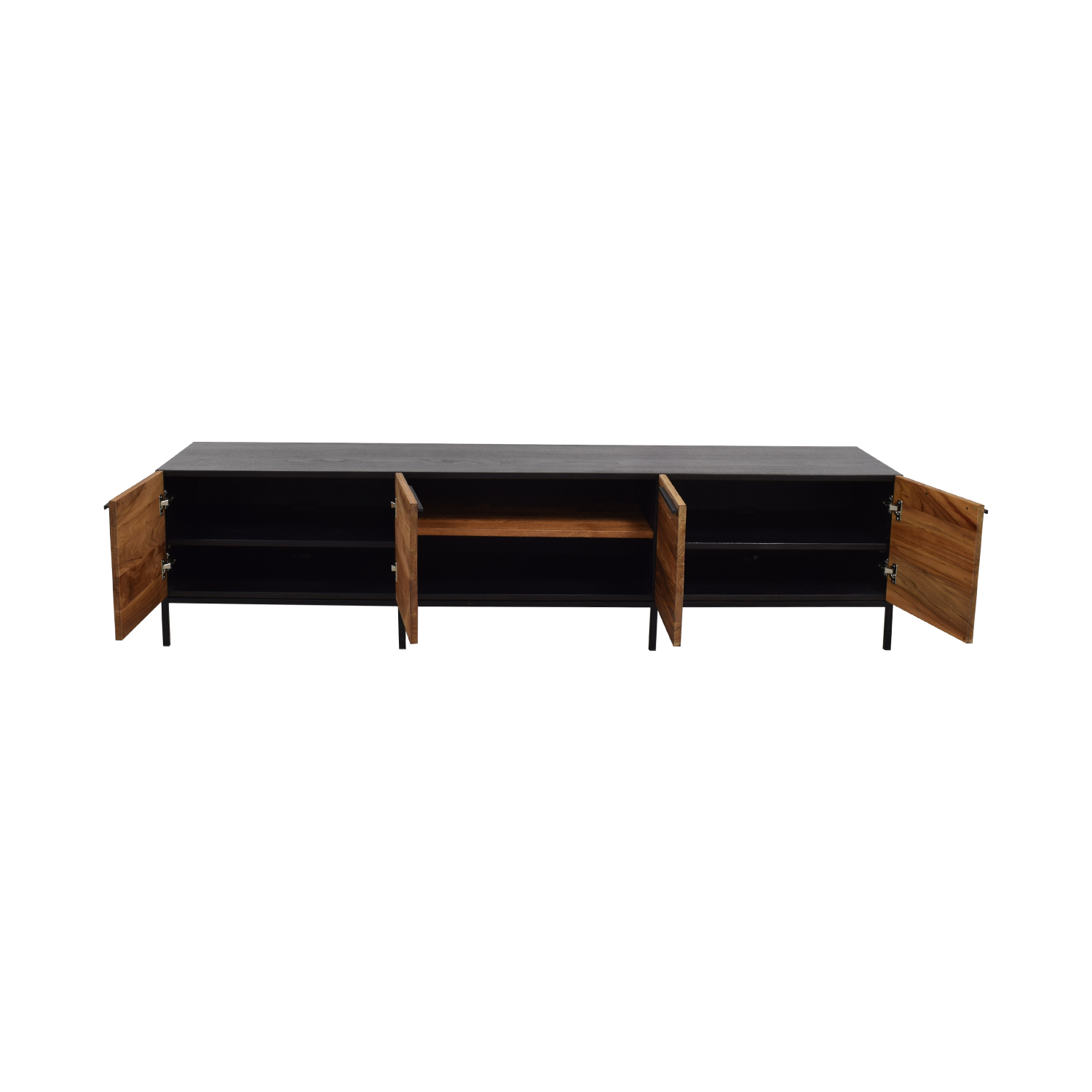 Crate & Barrel Rigby Natural Large Media Console with Base sale