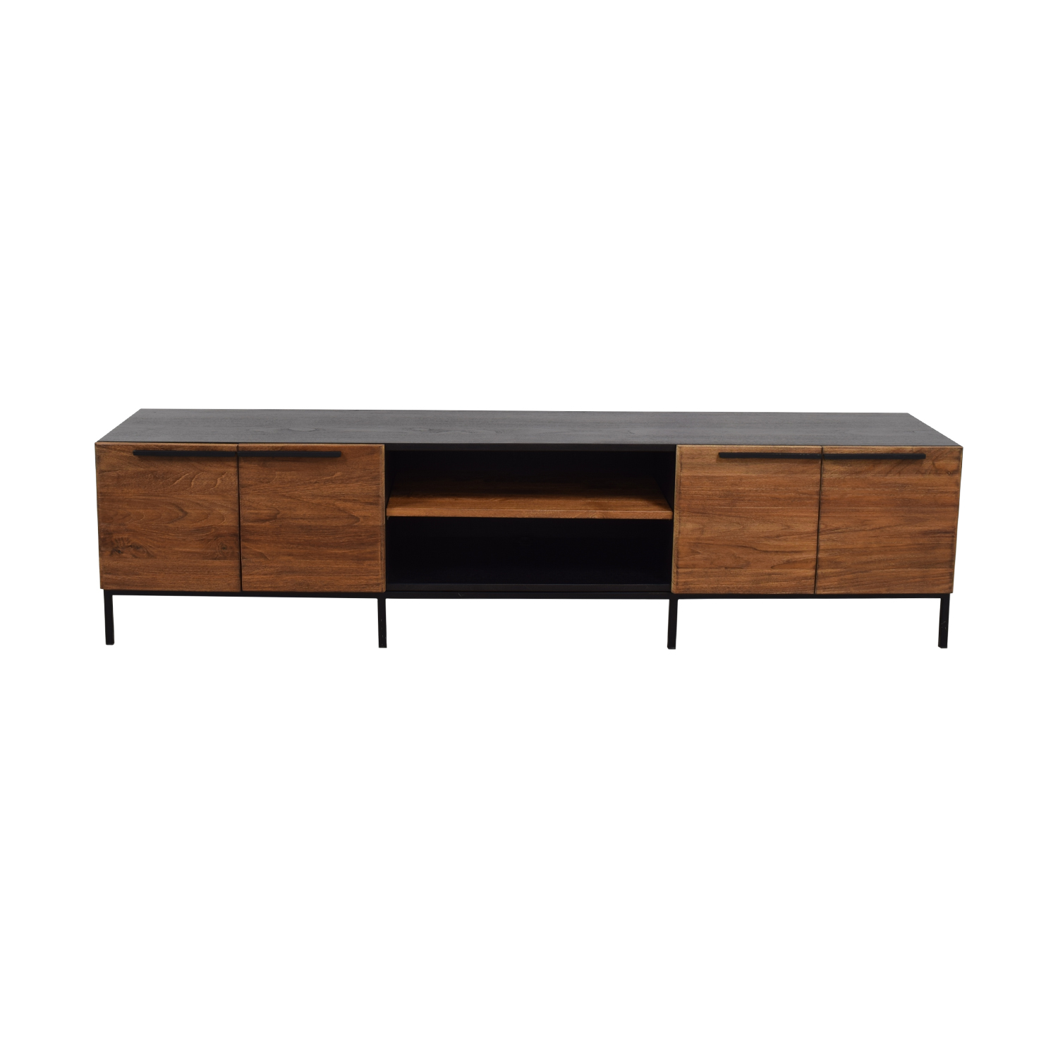 buy Crate & Barrel Crate & Barrel Rigby Natural Large Media Console with Base online
