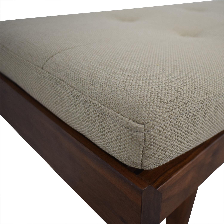 Crate & Barrel Crate & Barrel Beige Upholstered Wood Bench used