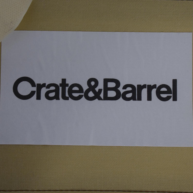 Crate & Barrel Crate & Barrel Beige Upholstered Wood Bench for sale