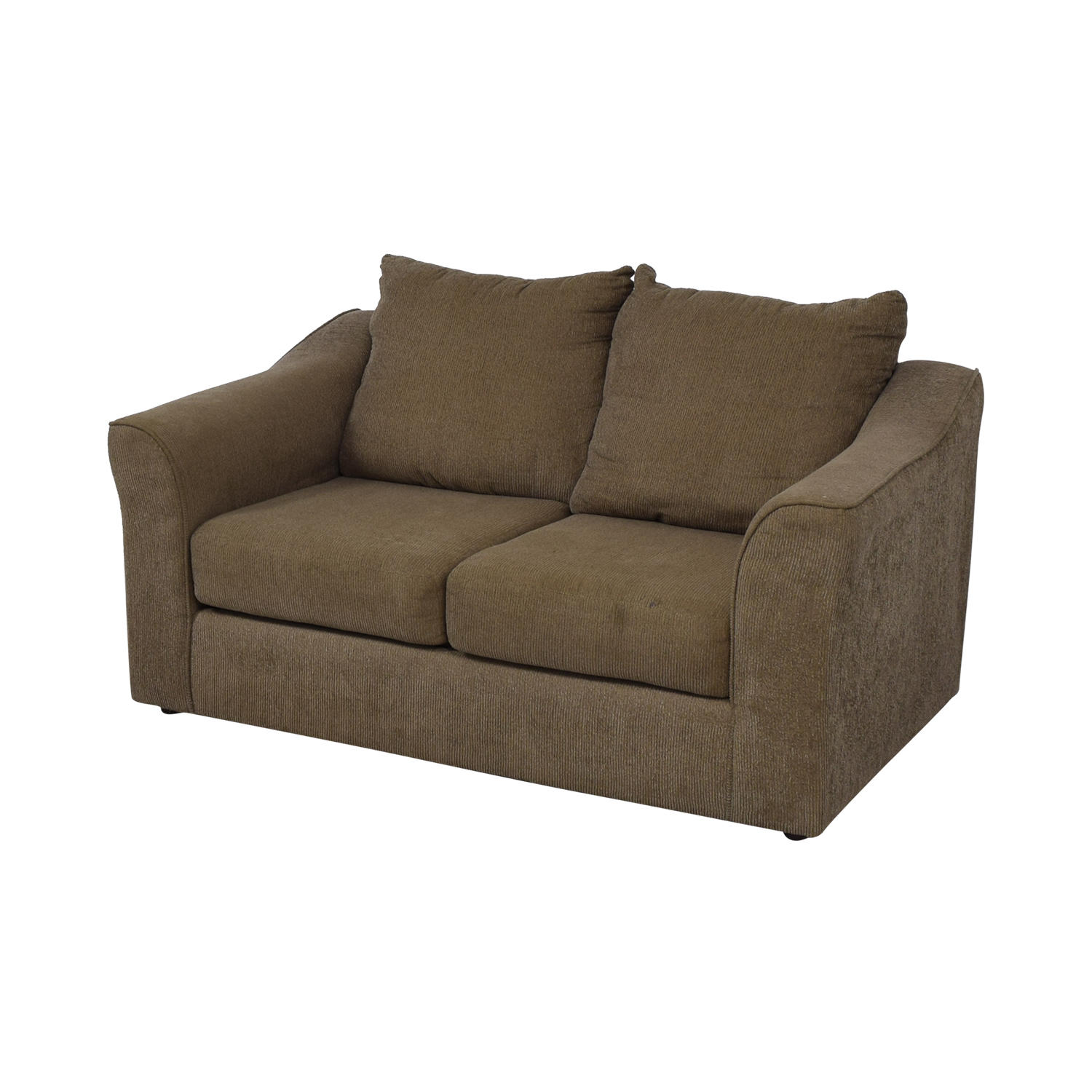 Hughes Furniture Hughes Furniture Brown Two-Cushion  Loveseat second hand