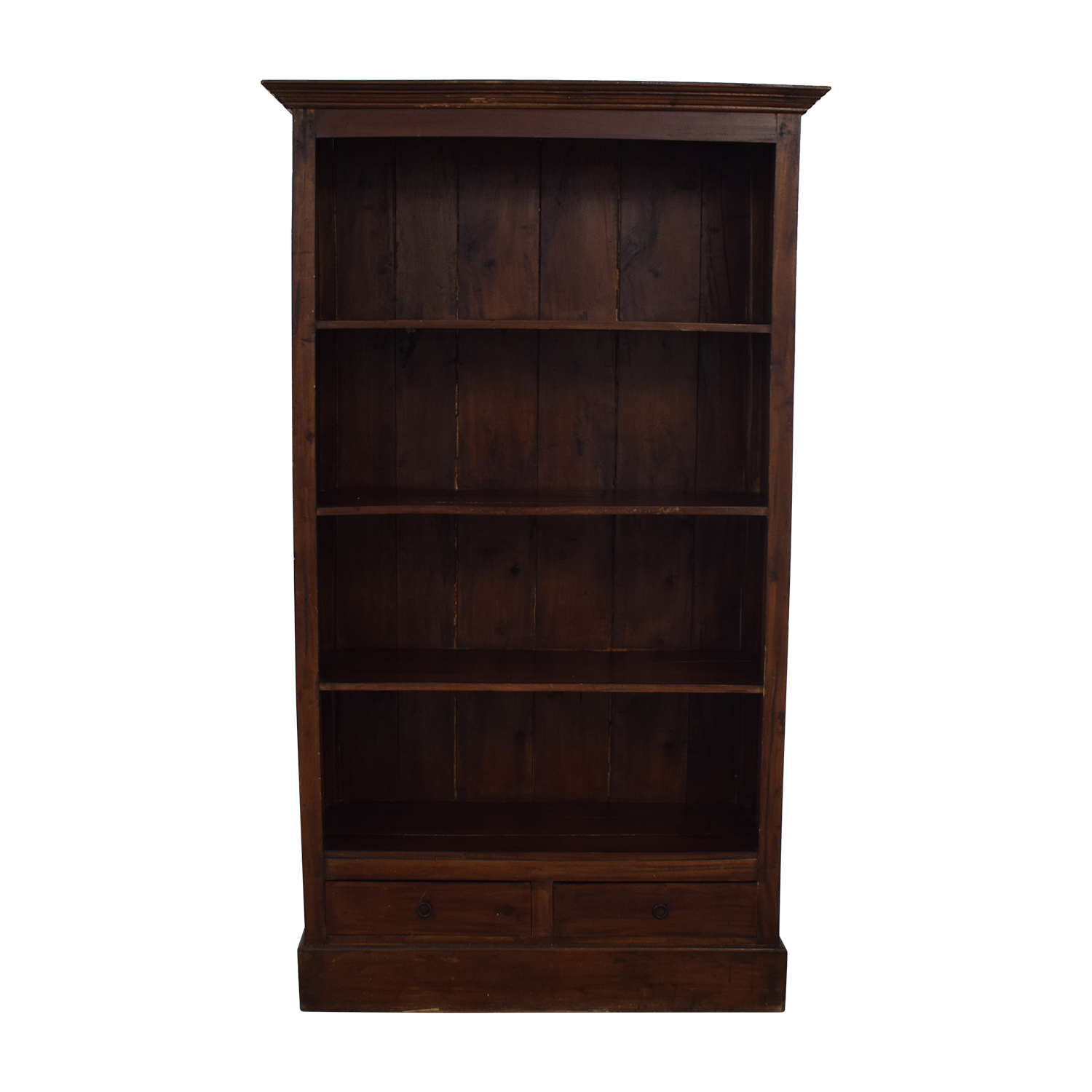 Two Drawer Wood Bookcase sale