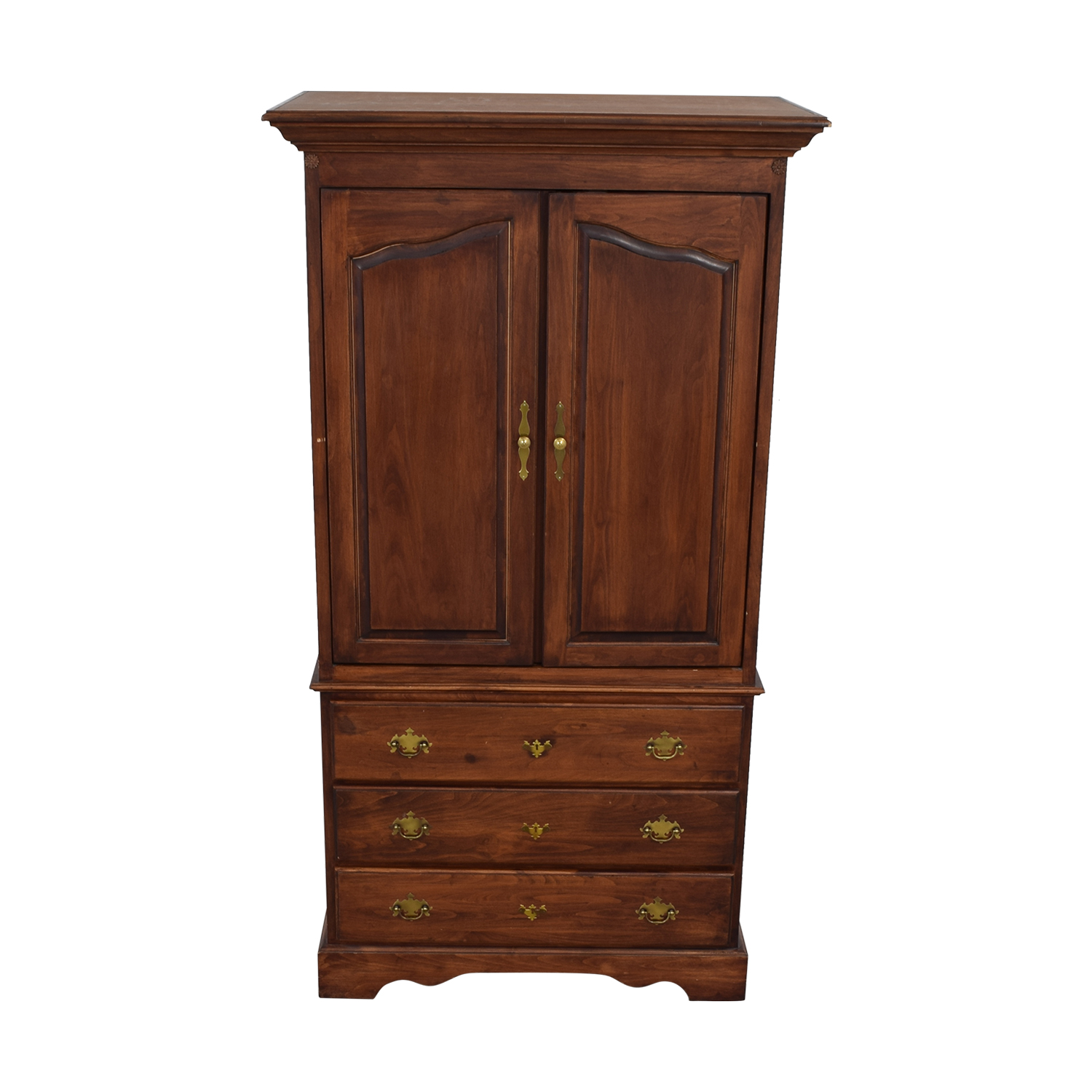 Wood Three-Drawer Media Armoire nj