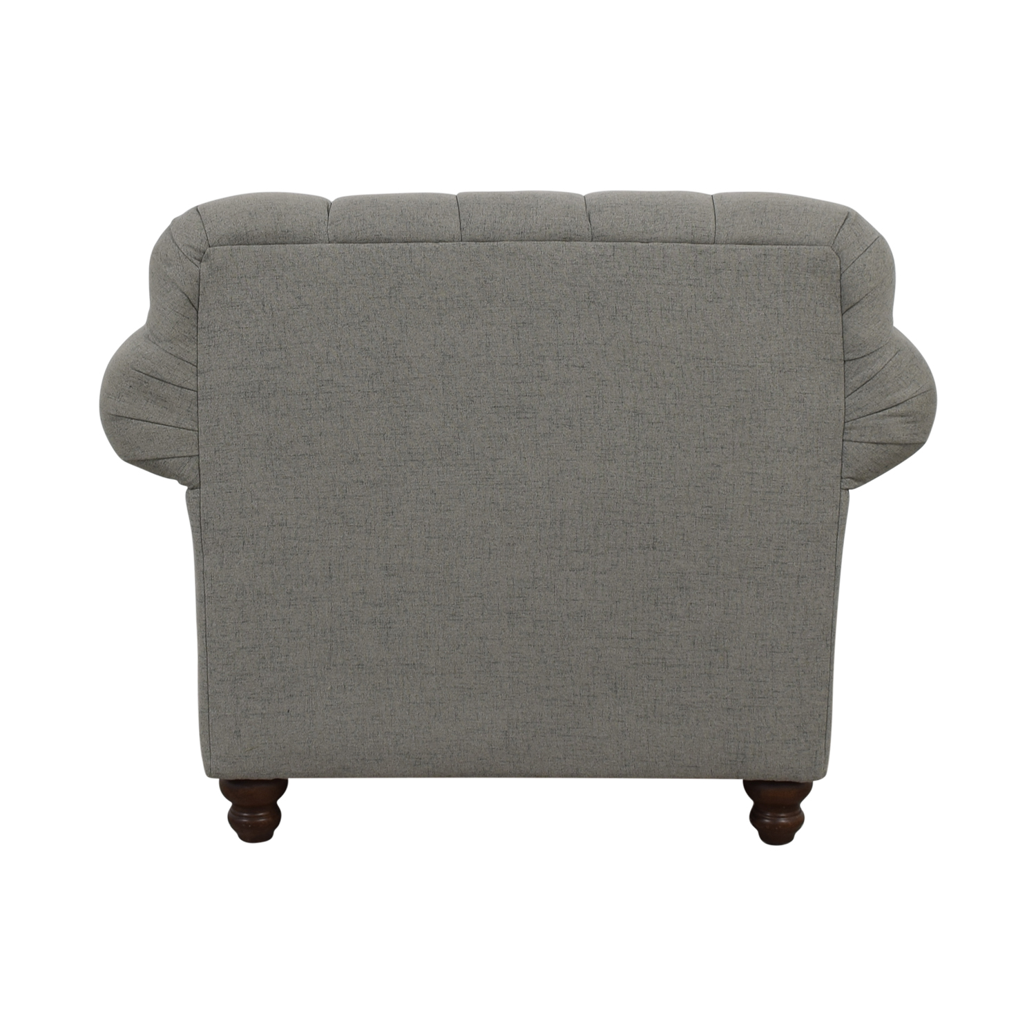 Klaussner Klaussner Distinctions Grey Tufted Nailhead Accent Chair gray