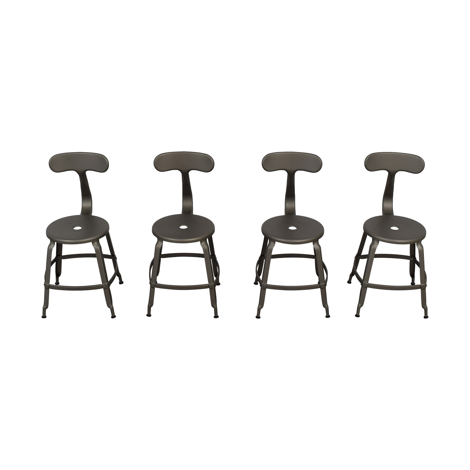 Restoration Hardware Restoration Hardware French Grey T-Back DIning Chairs second hand