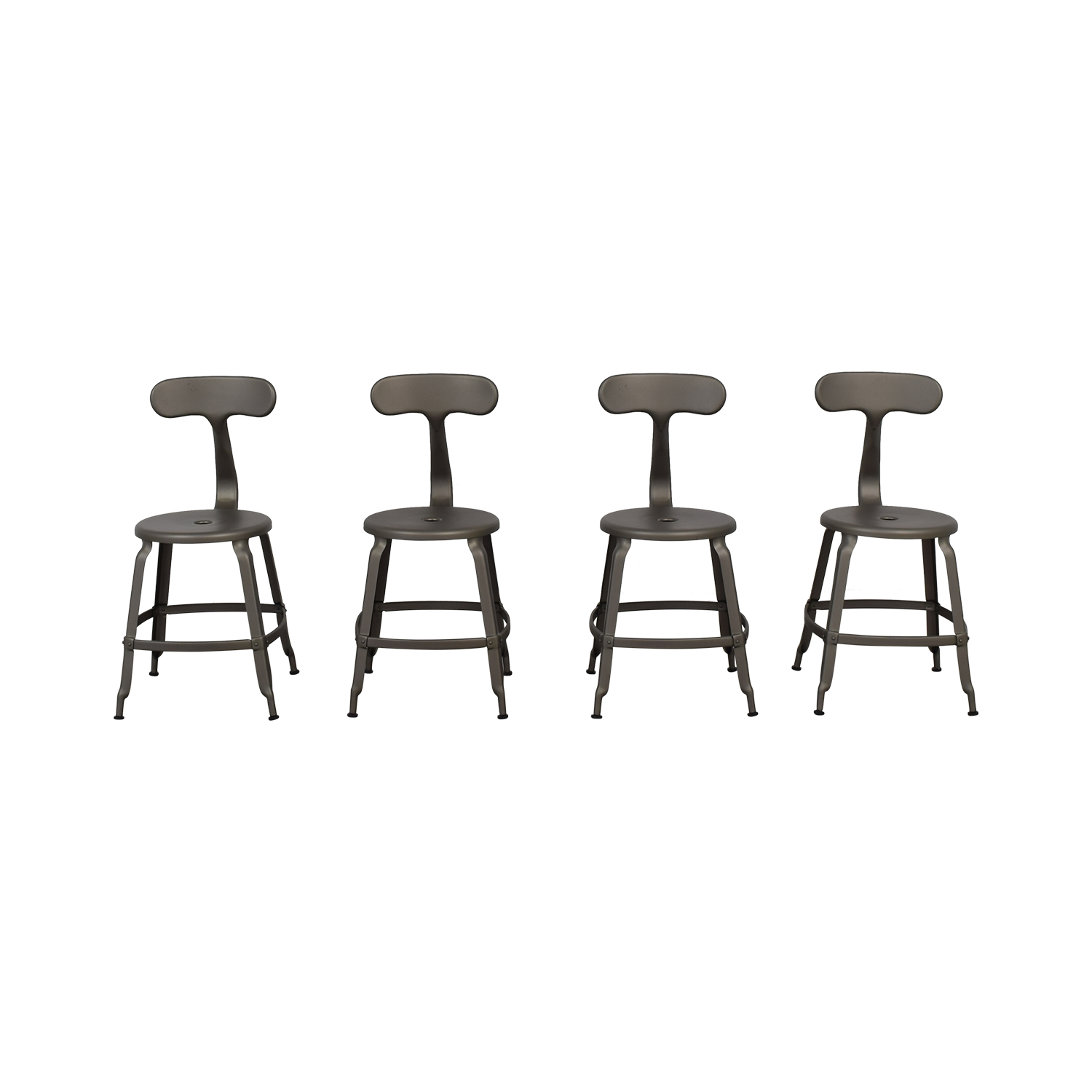 Restoration Hardware Restoration Hardware French Grey T-Back DIning Chairs