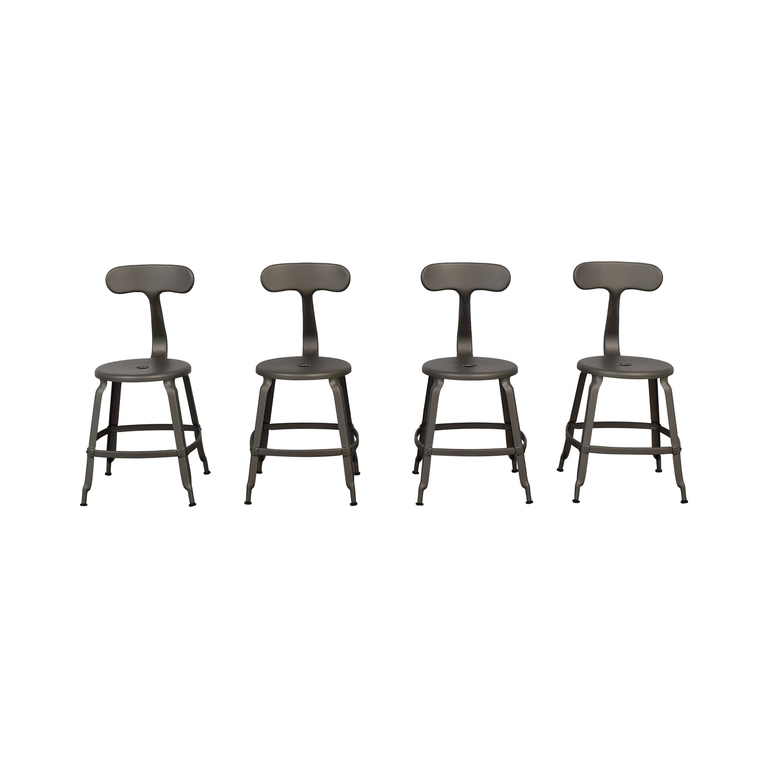 buy Restoration Hardware French Grey T-Back DIning Chairs Restoration Hardware Chairs