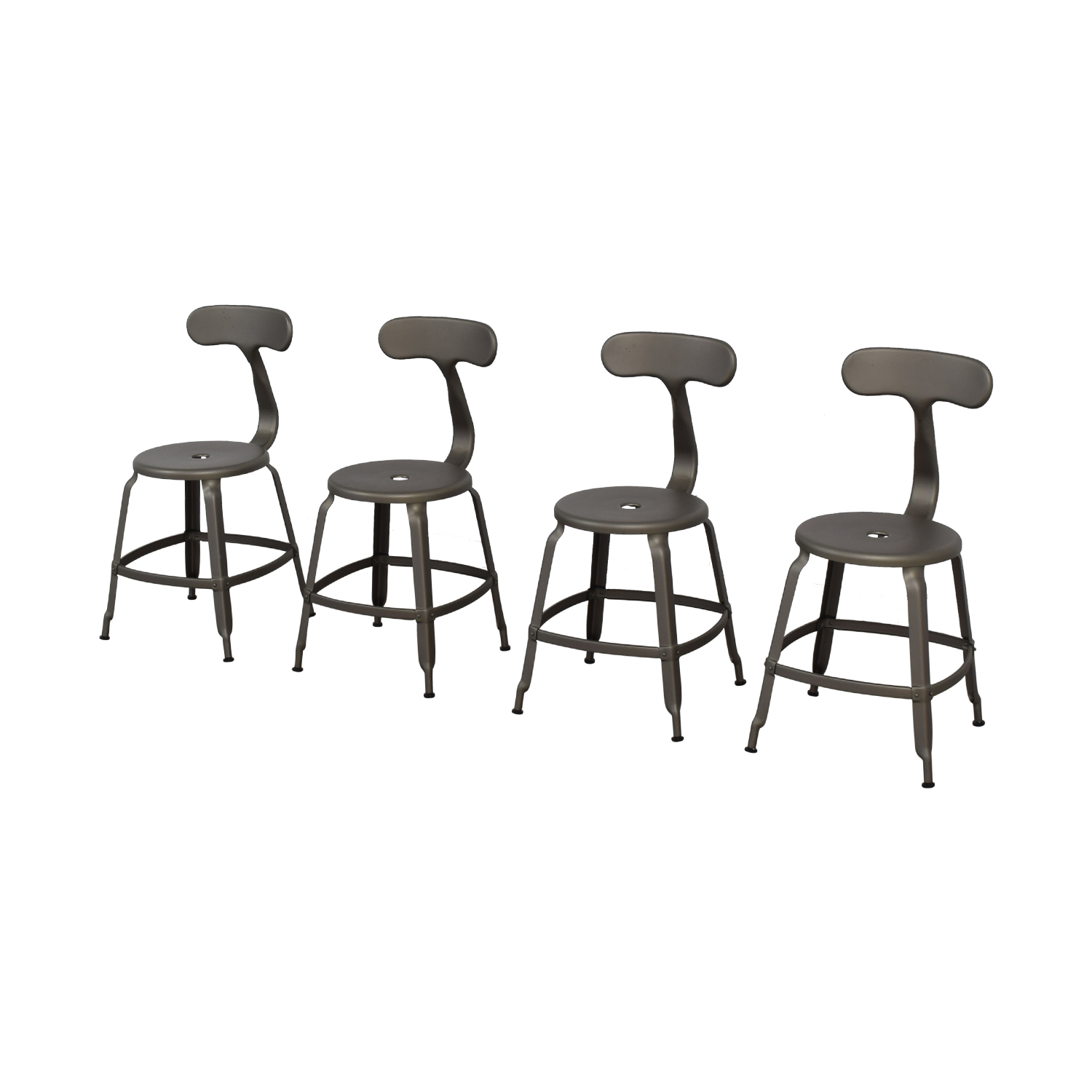 Restoration Hardware French Grey T-Back DIning Chairs sale