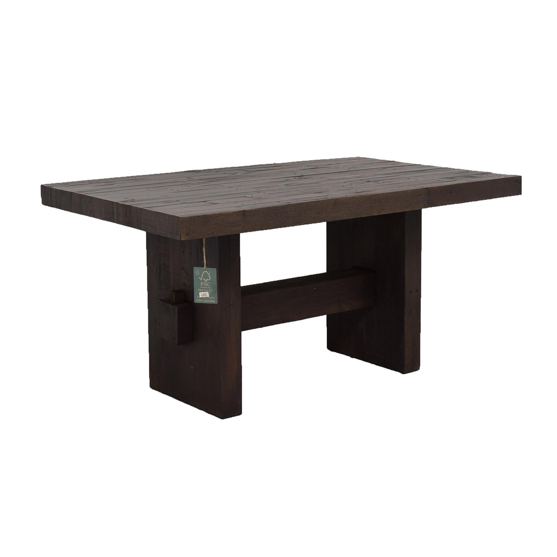 77 off west elm west elm emmerson reclaimed wood dining. Black Bedroom Furniture Sets. Home Design Ideas