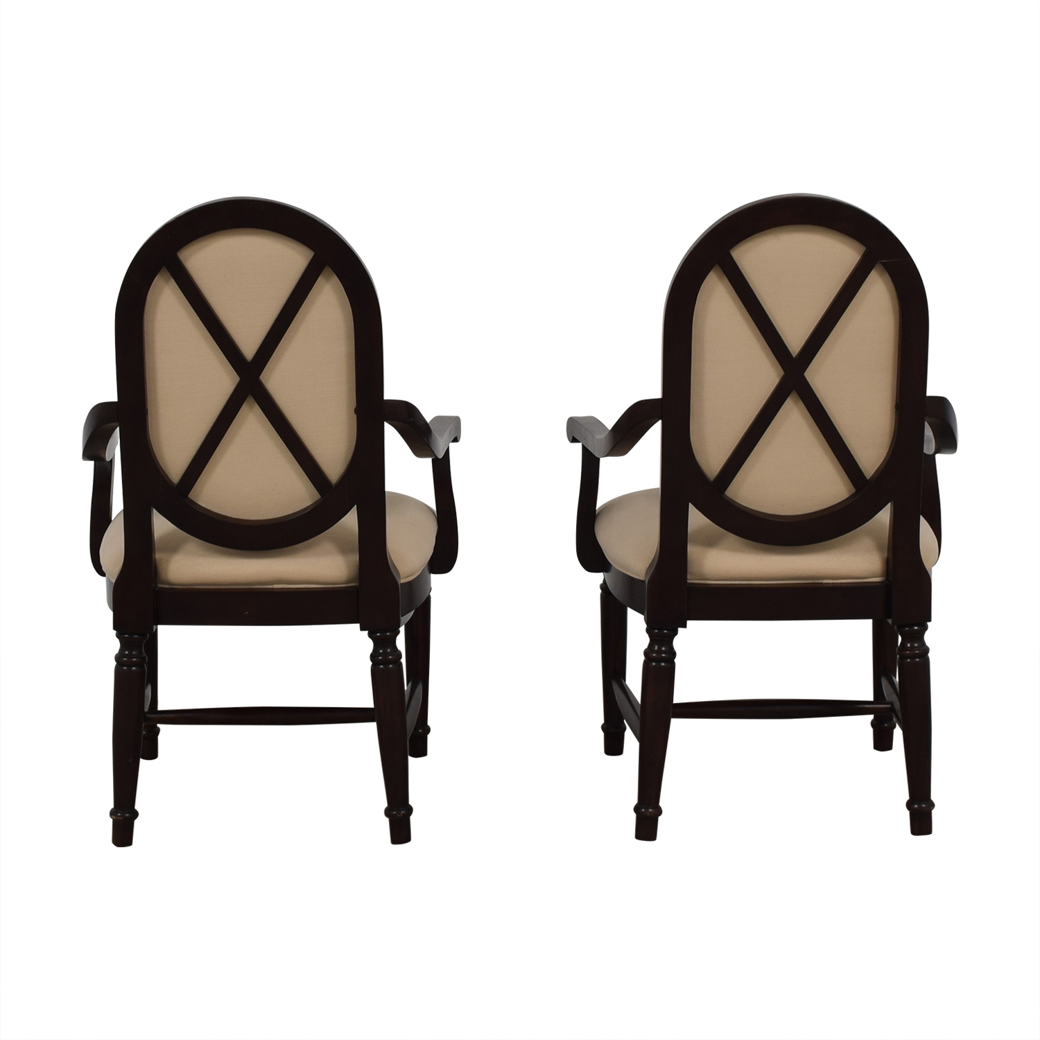 shop White Upholstered Wood Accent Chairs