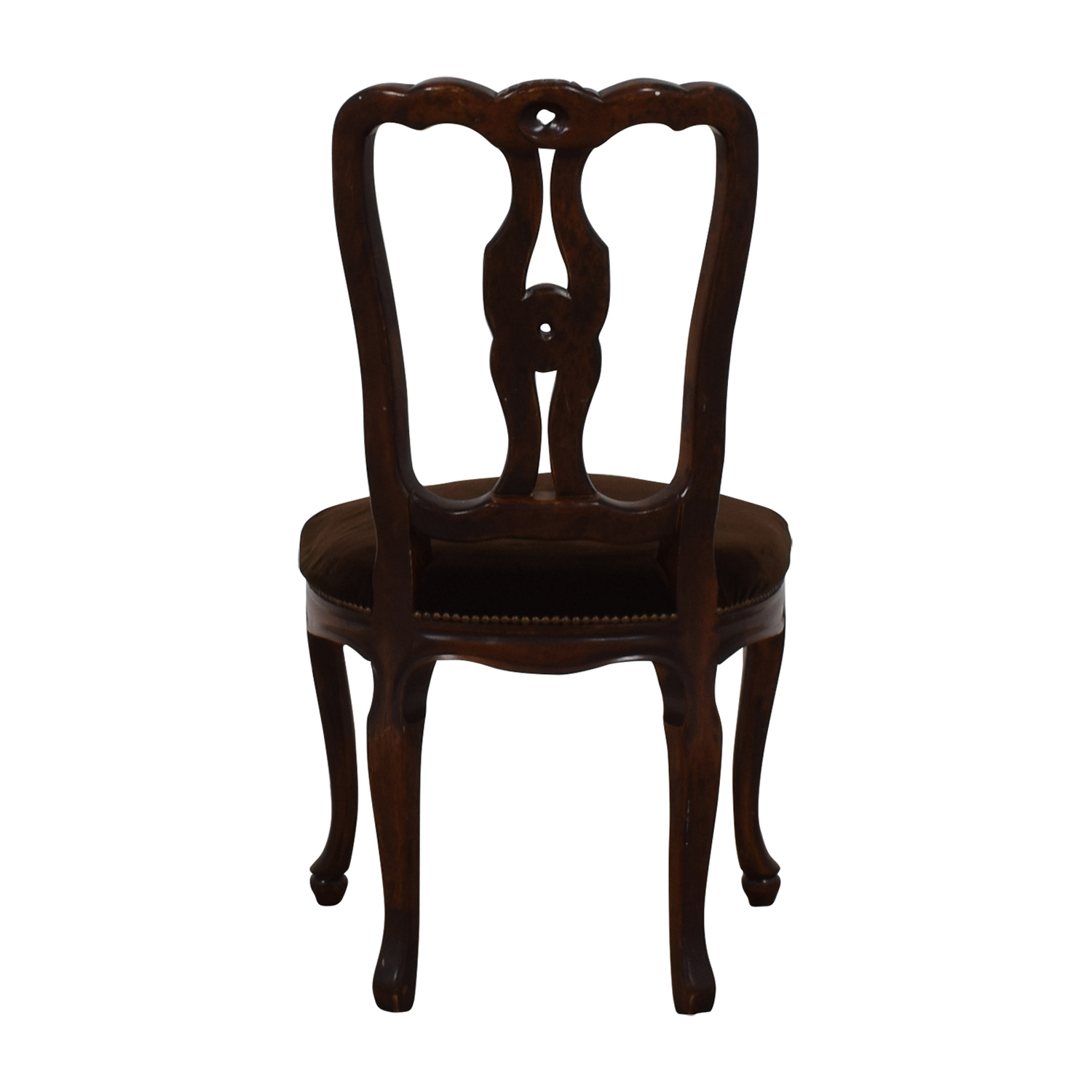 Antique Brown Velvet Accent Chair Chairs
