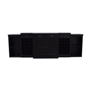buy Williams Sonoma Black Entertainment Center Williams Sonoma